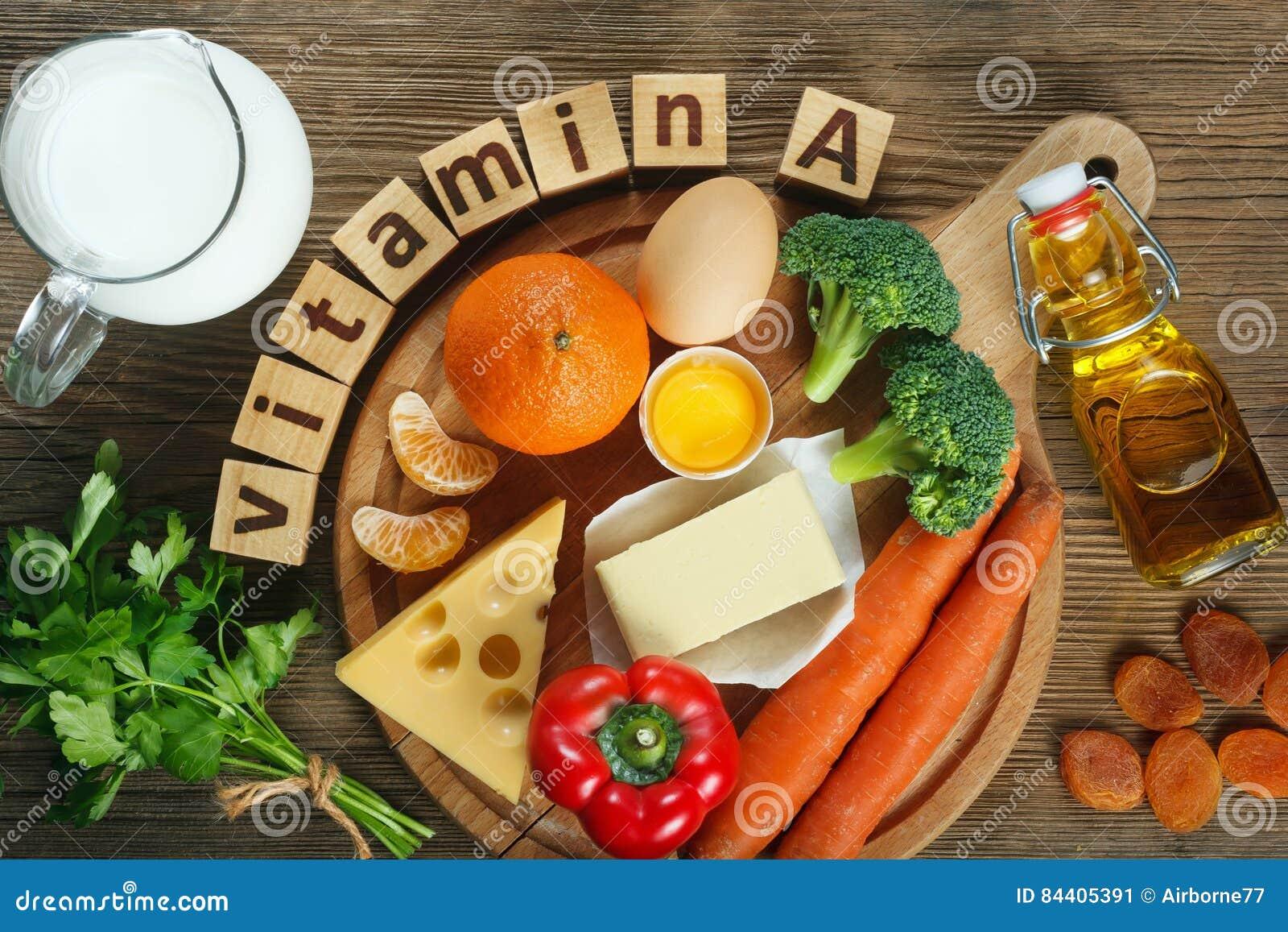 Vitamin A i mat