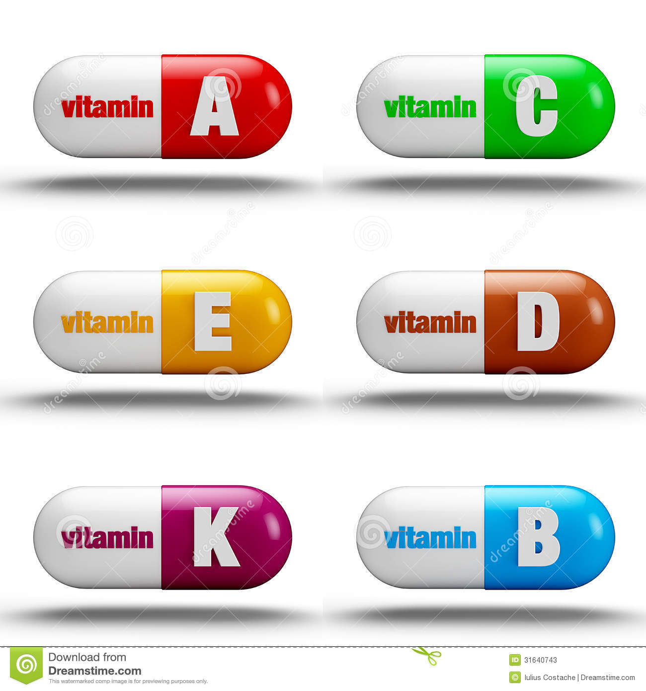 Vitamin Pills Stock Photos - Image: 31640743