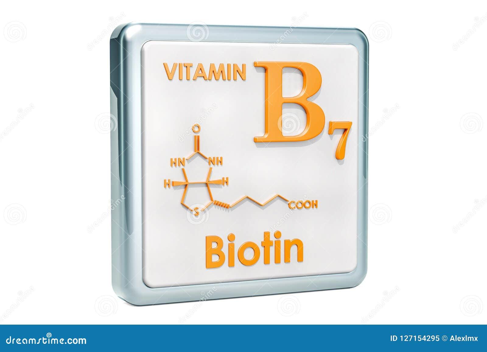 Vitamina B7 Biotina Icono Fórmula Química Estructura