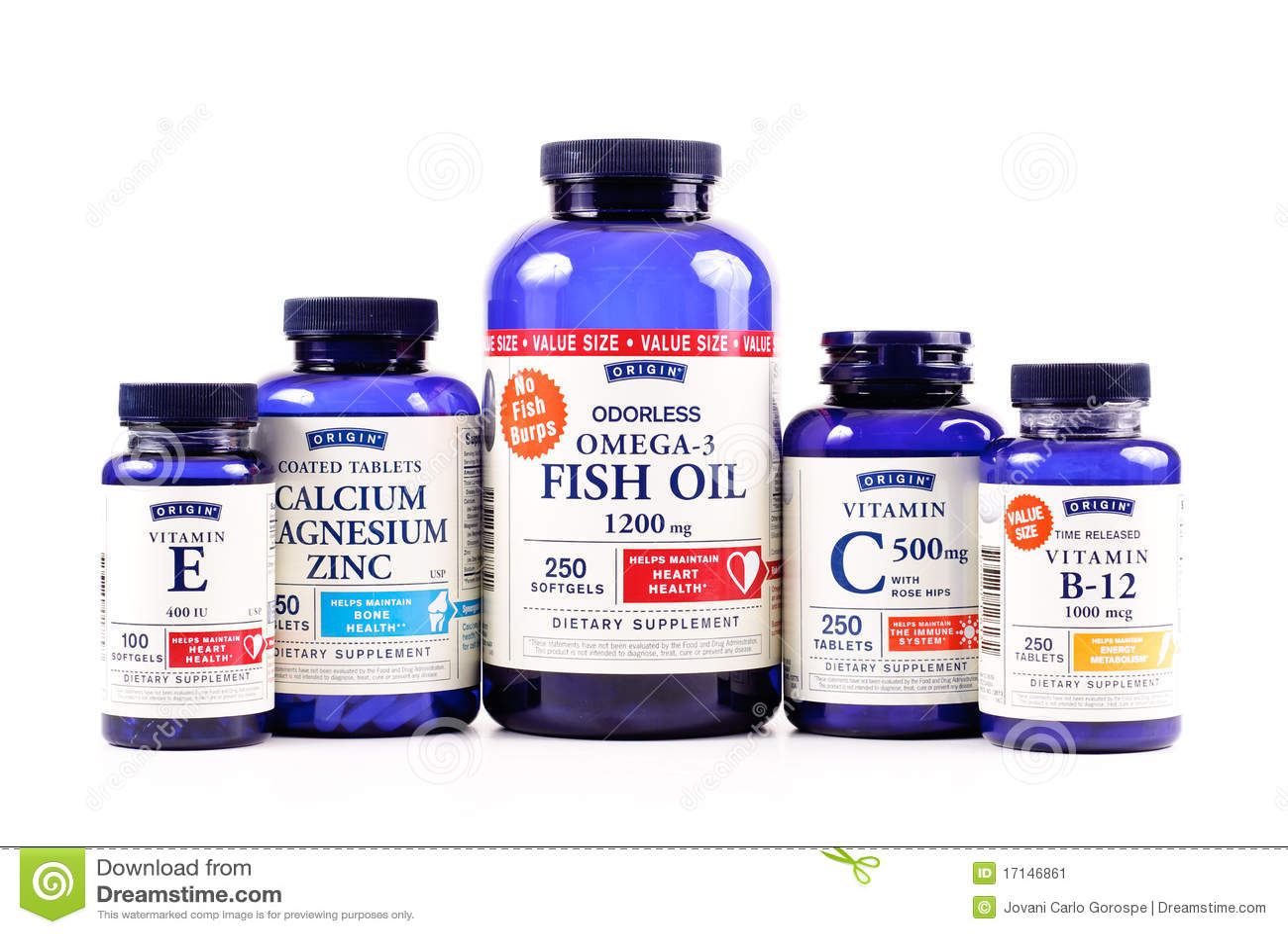 Vitaminas de la marca de fábrica del origen