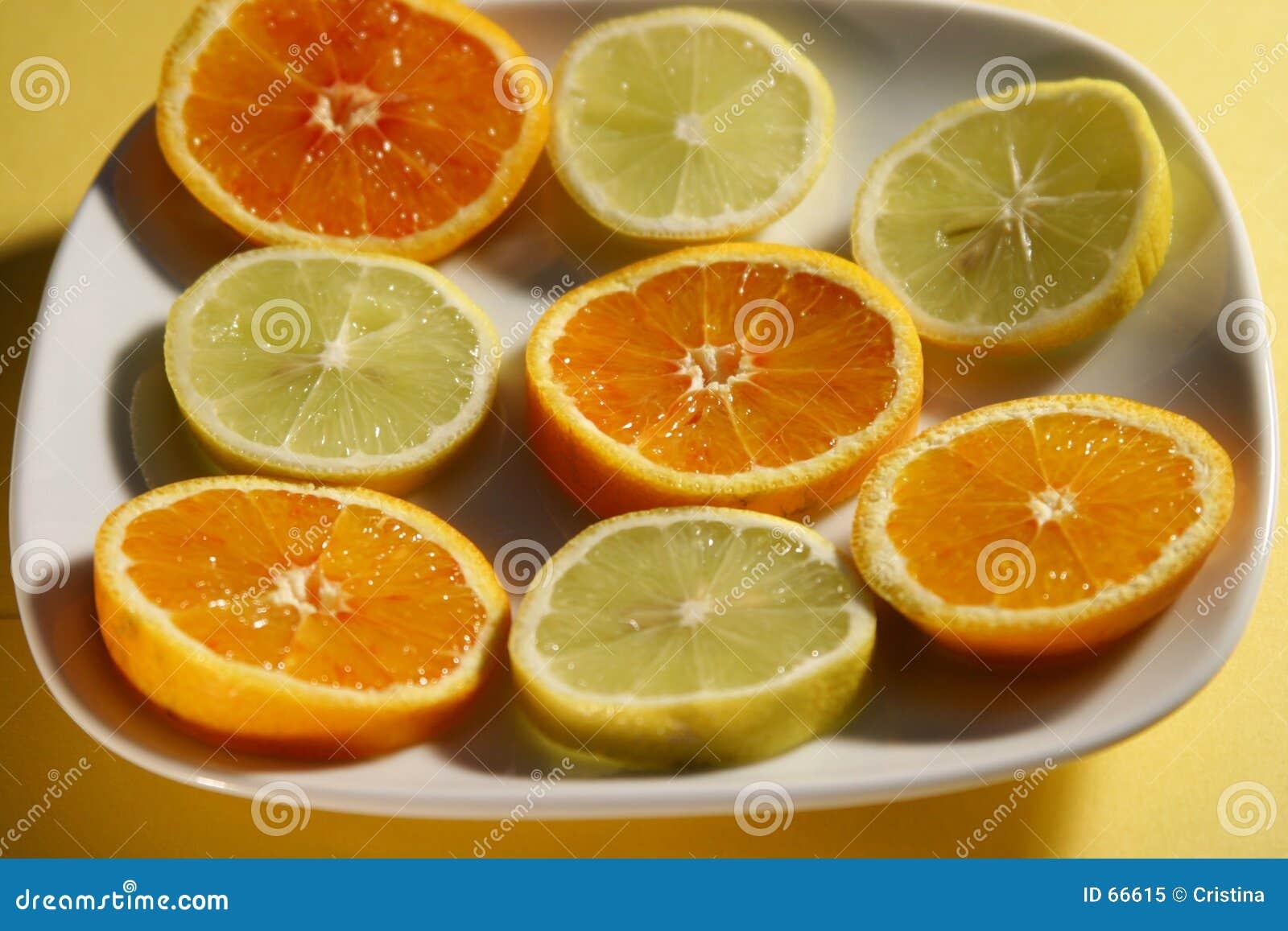 Vitaminas naturales rebanadas
