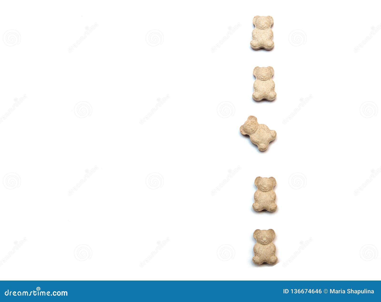 Vitaminas para los niños bajo la forma de osos