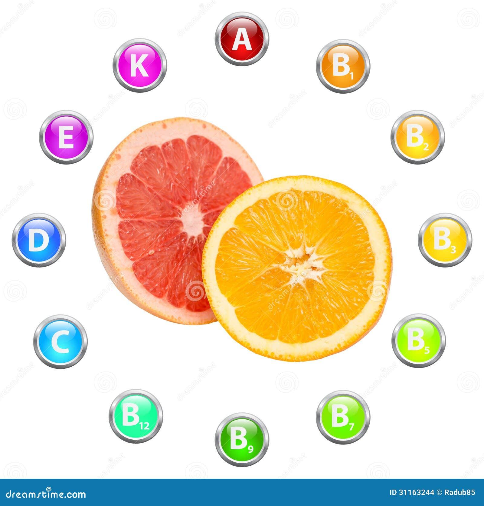 Vitaminas Sanas De Las Frutas Tropicales De La Vida Stock