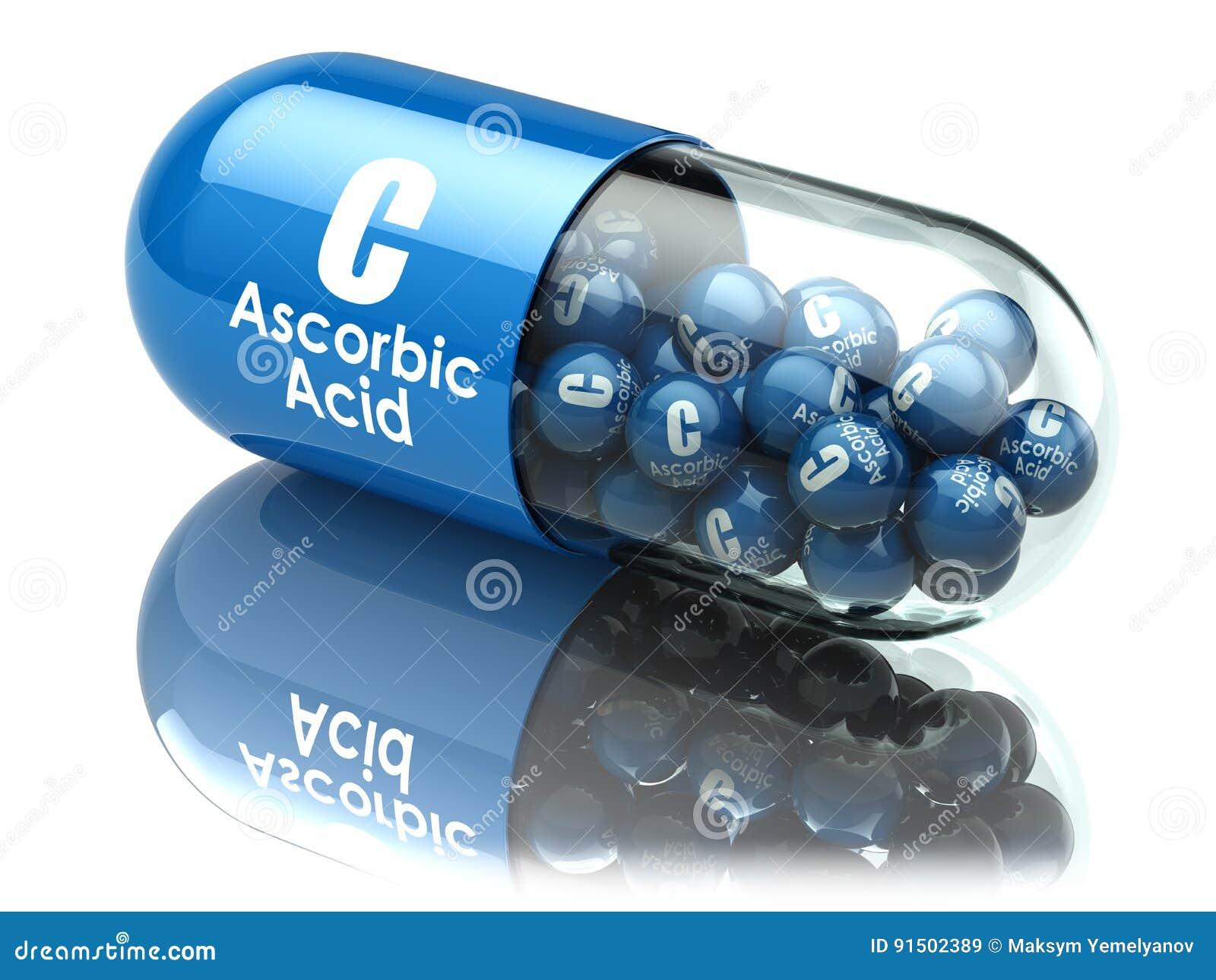 Vitamine Ccapsule of pil Ascorbinezuur Dieet supplementen