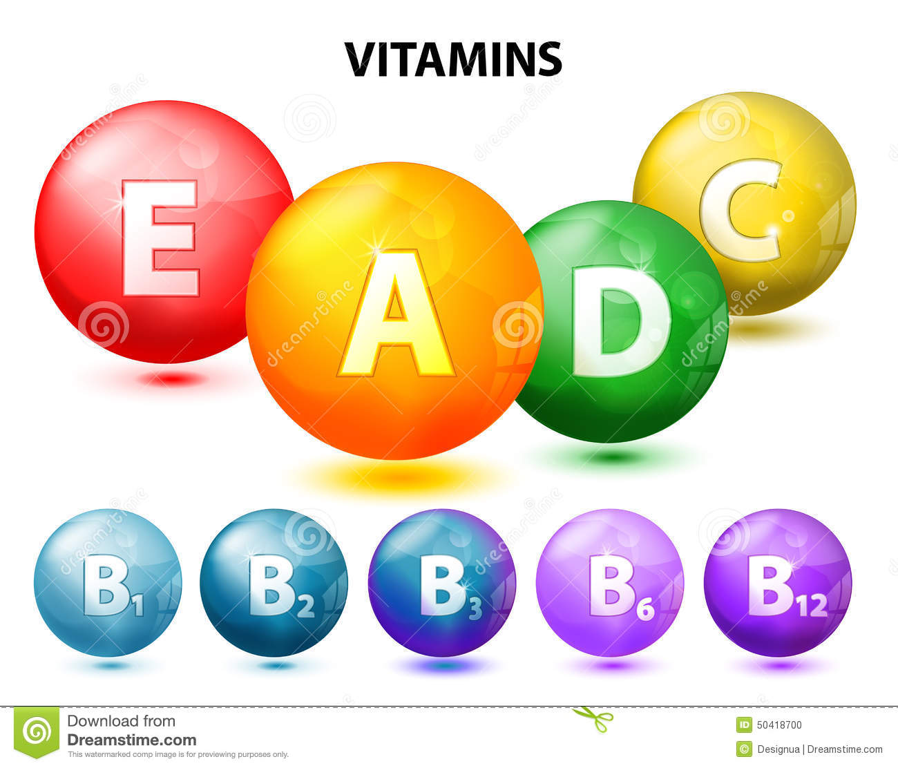 Vitamins Stock Vector - Image: 50418700
