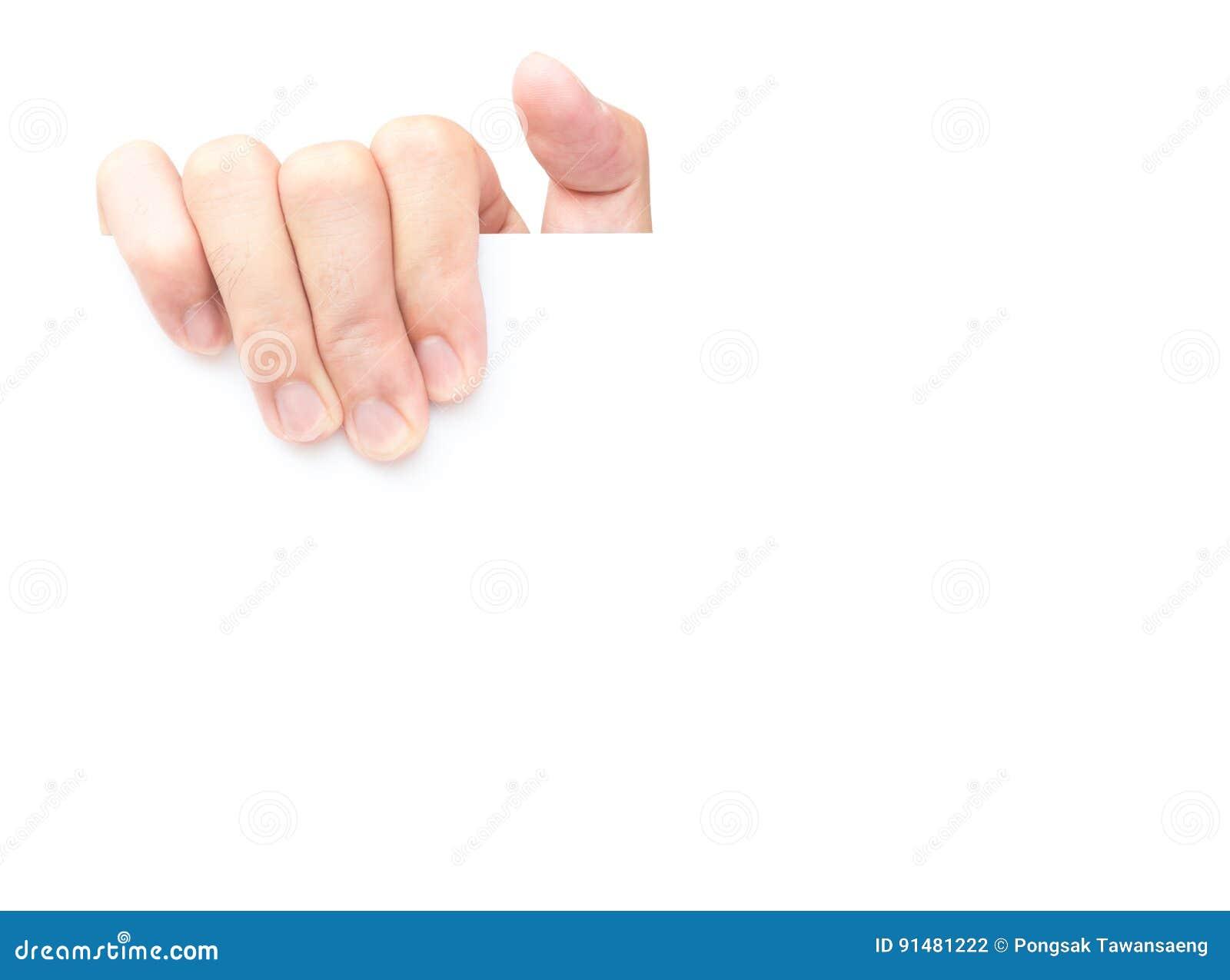 Vitbok för handinnehavmellanrumet för annonserar text