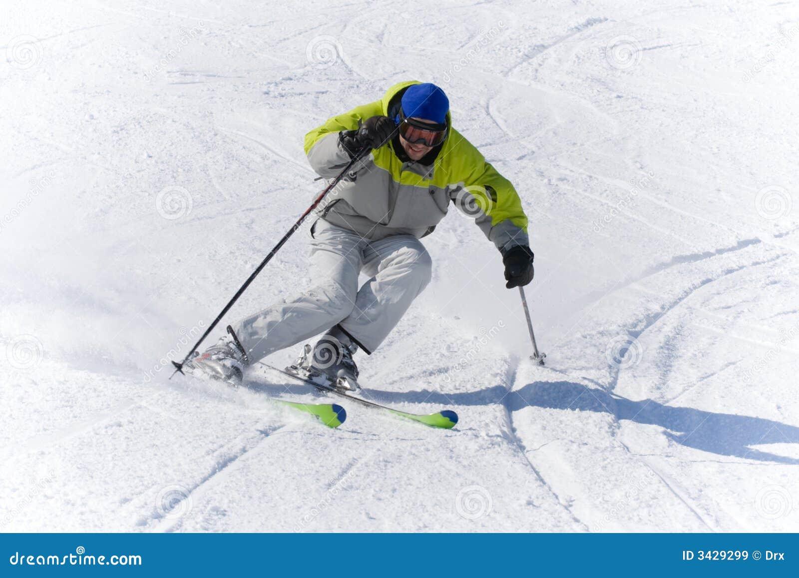 Vitesse de skieur de sports d hiver