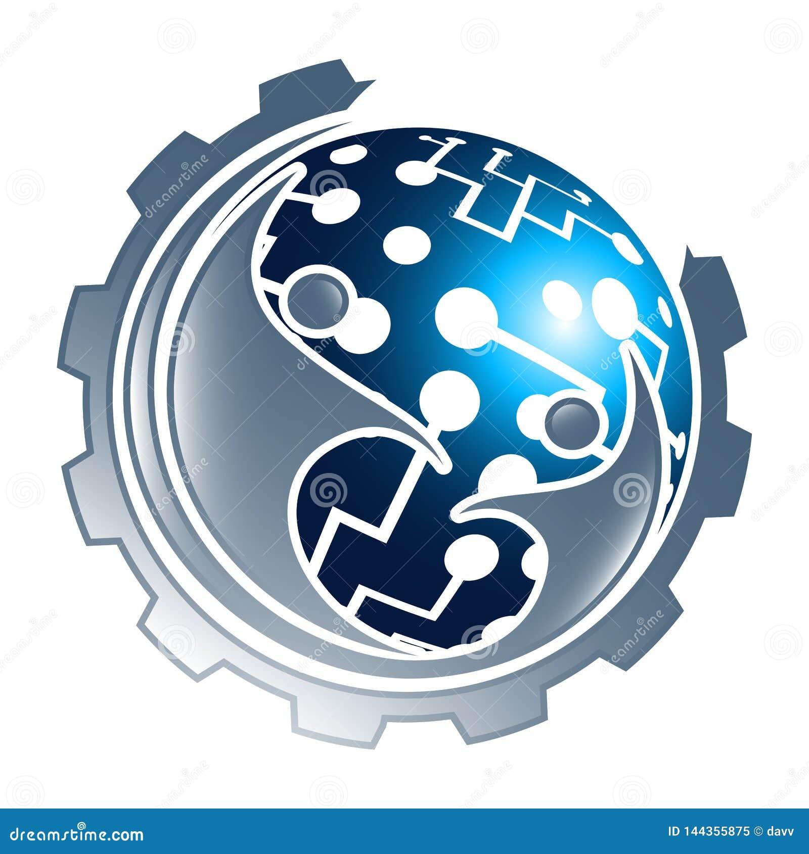 Vitesse de sphère de technologie numérique avec la conception de l avant-projet de personnes Vecteur graphique d ?l?ment de calib