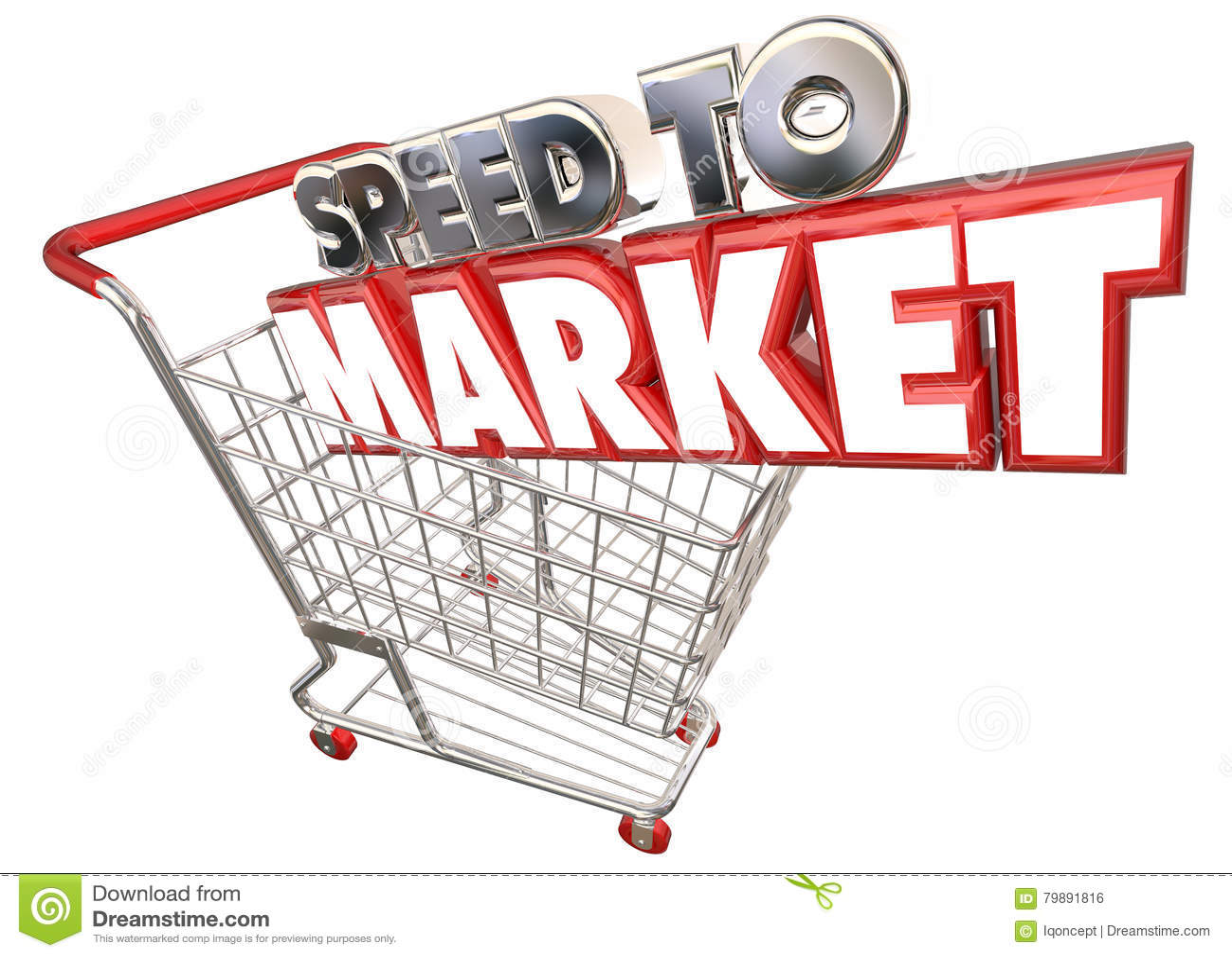 vitesse pour lancer le d veloppement de produit sur le march de caddie illustration stock. Black Bedroom Furniture Sets. Home Design Ideas