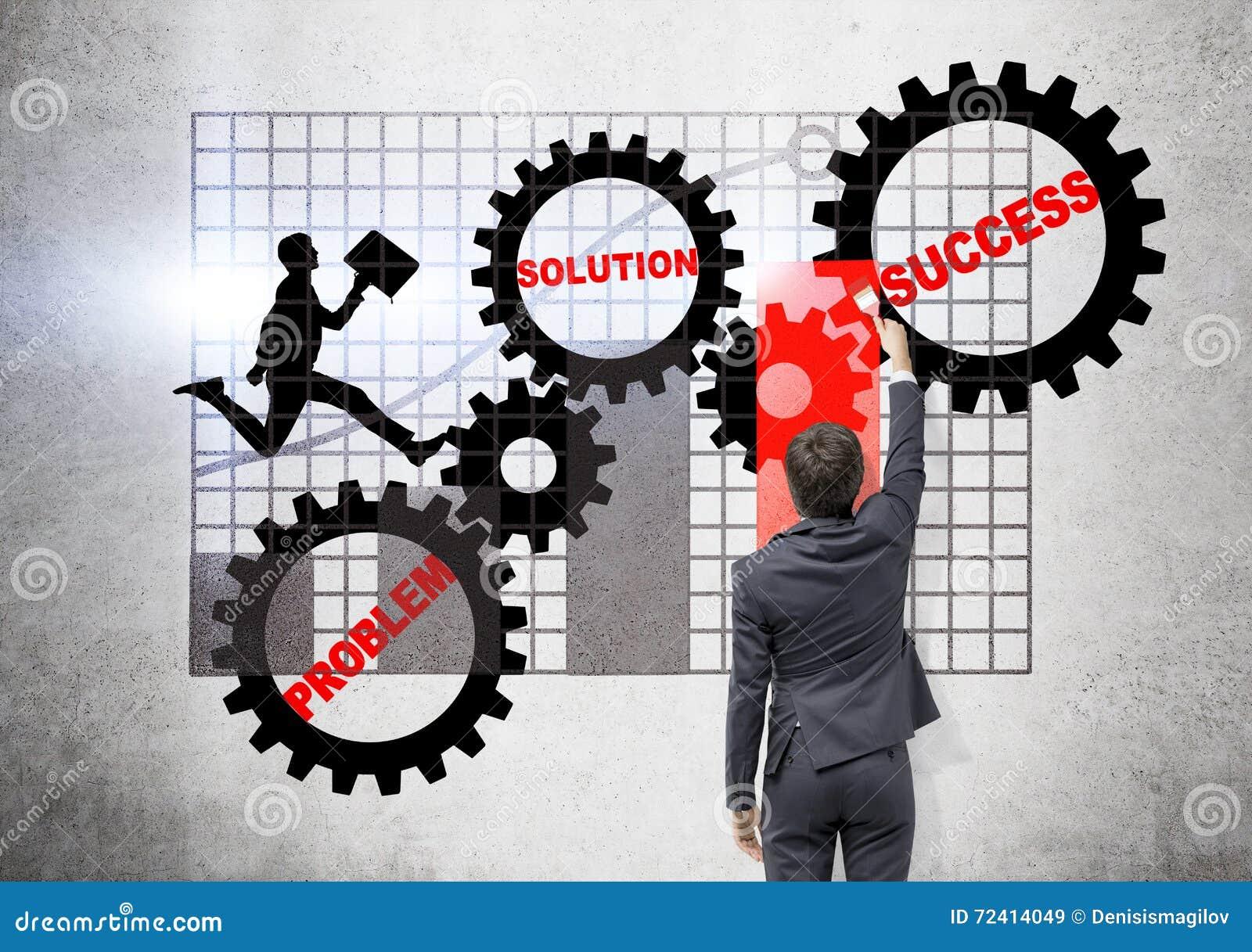Vitesses et diagramme de dessin d homme d affaires