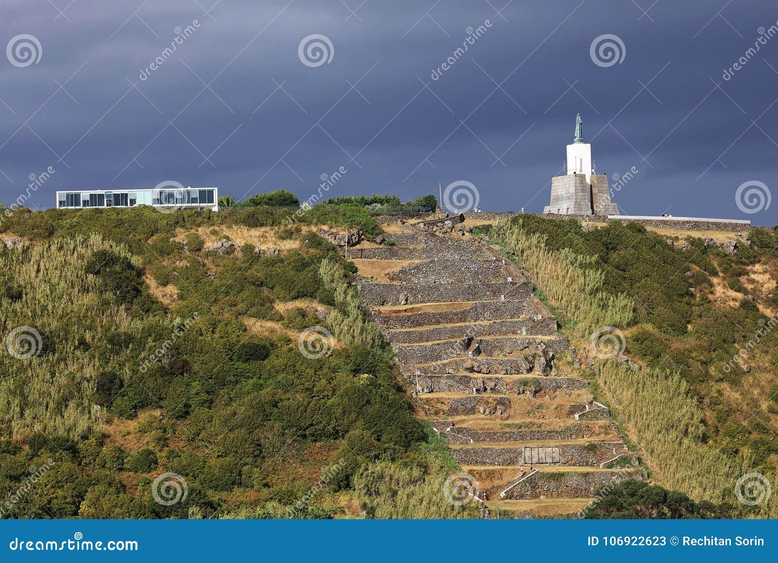 Vitoria miejscowość nadmorska, architektoniczny szczegół w Terceira wyspie