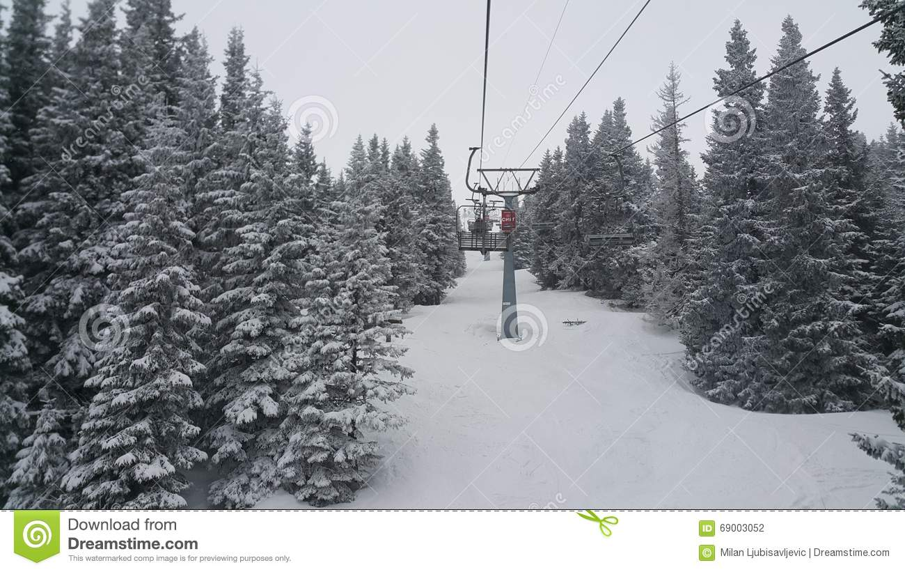 vitosha ski resort editorial photography. image of near - 69003052
