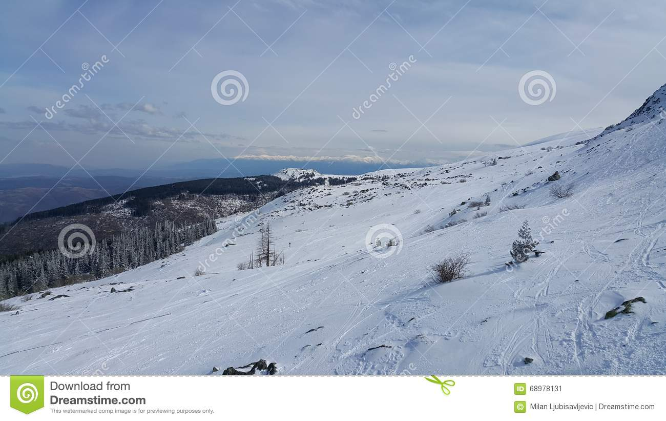 vitosha ski resort stock image. image of bulgaria, winter - 68978131