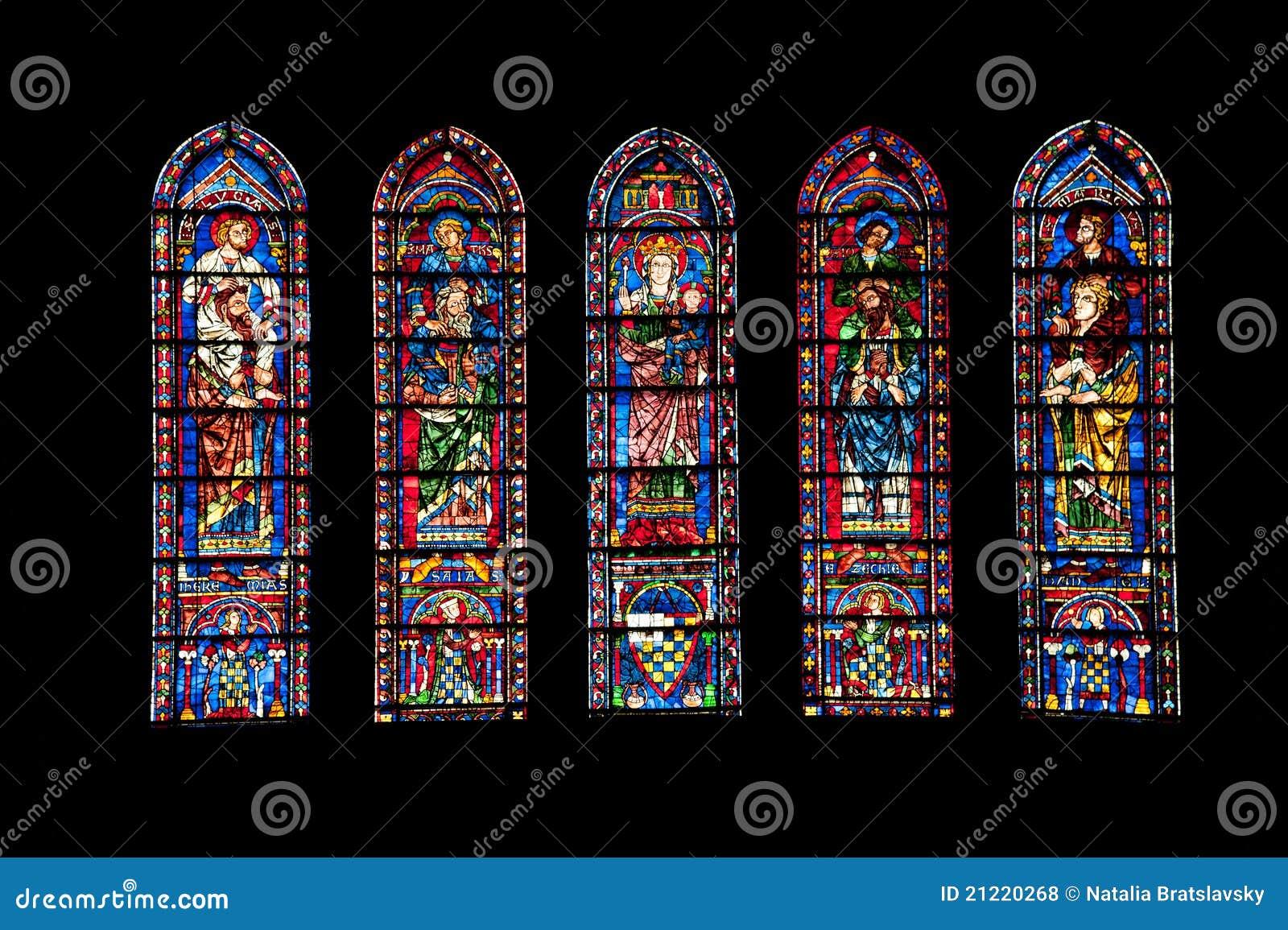 Vitrages de cathédrale de Chartres