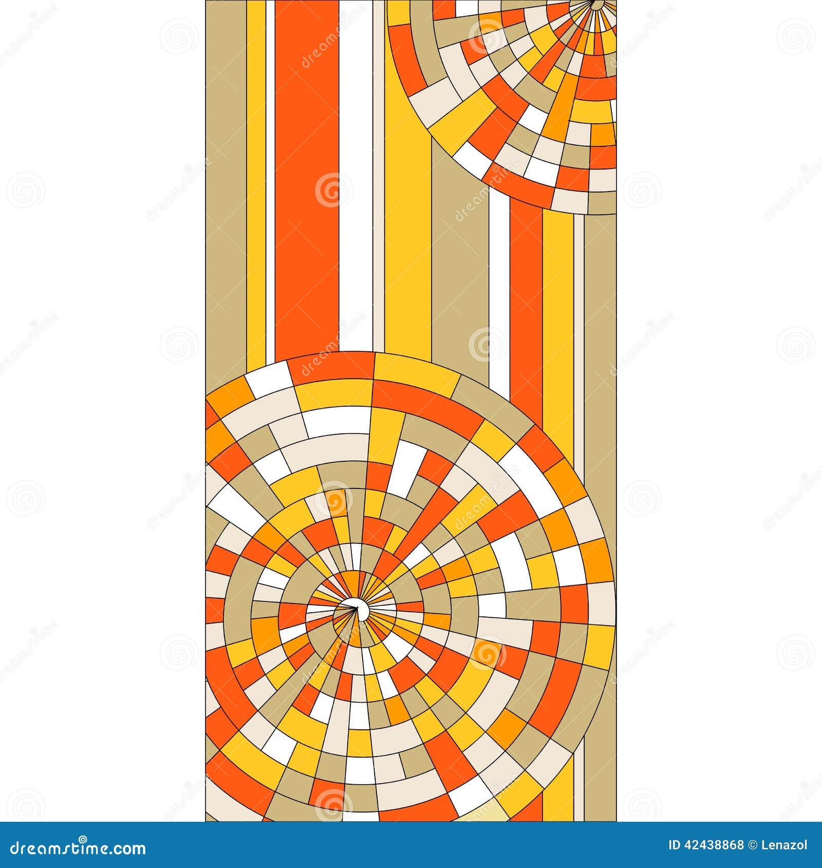 Vitral con los círculos coloridos