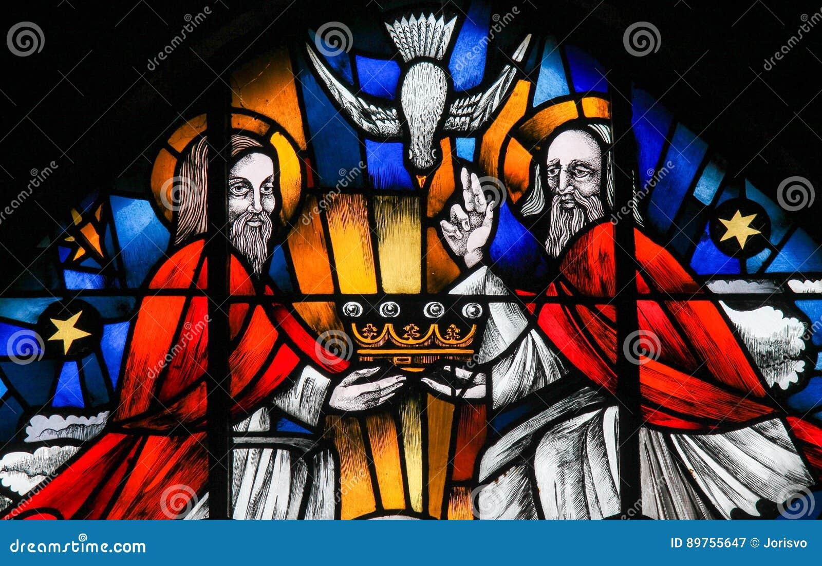 Vitral - la trinidad santa