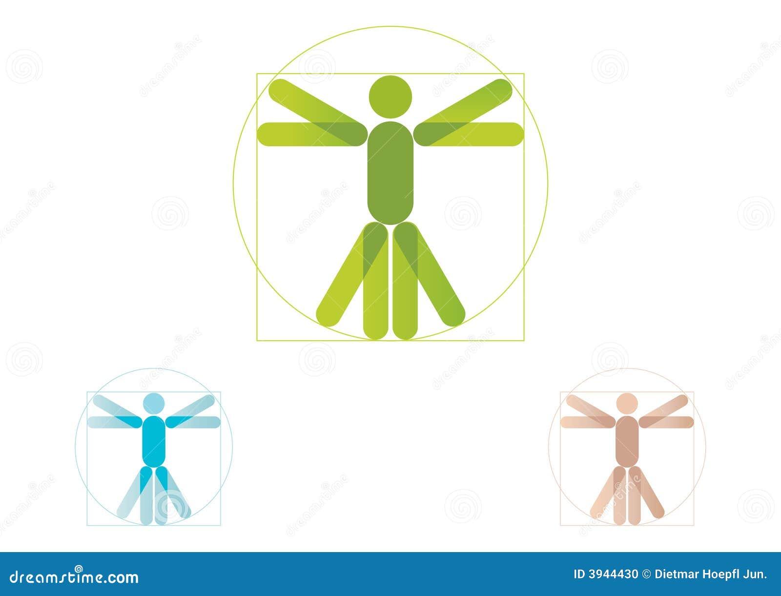 vitruvian man logo stock vector image of famous  abstract 3944430 vitruvian man vector silhouette Modern Vitruvian Man