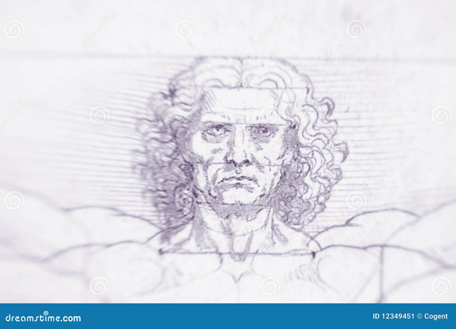 Vitruvian Mann - Leonardo Da Vinci Redaktionelles Bild ...