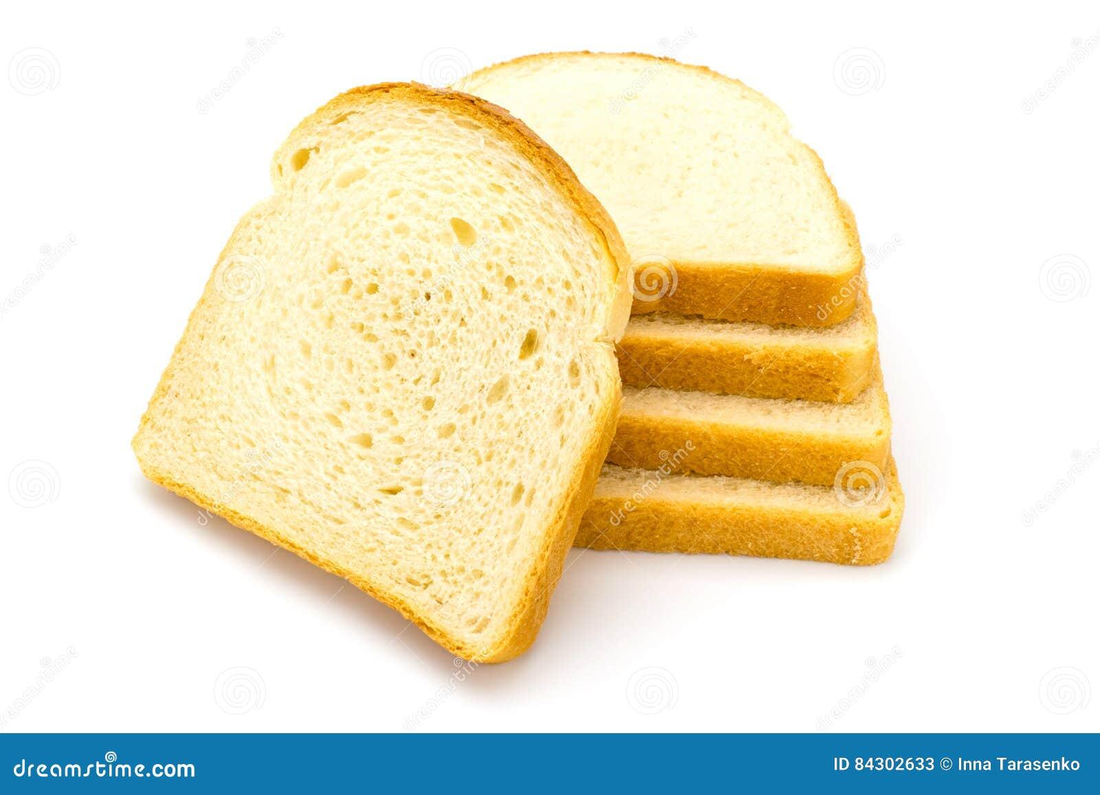 Vitt bröd på en vit