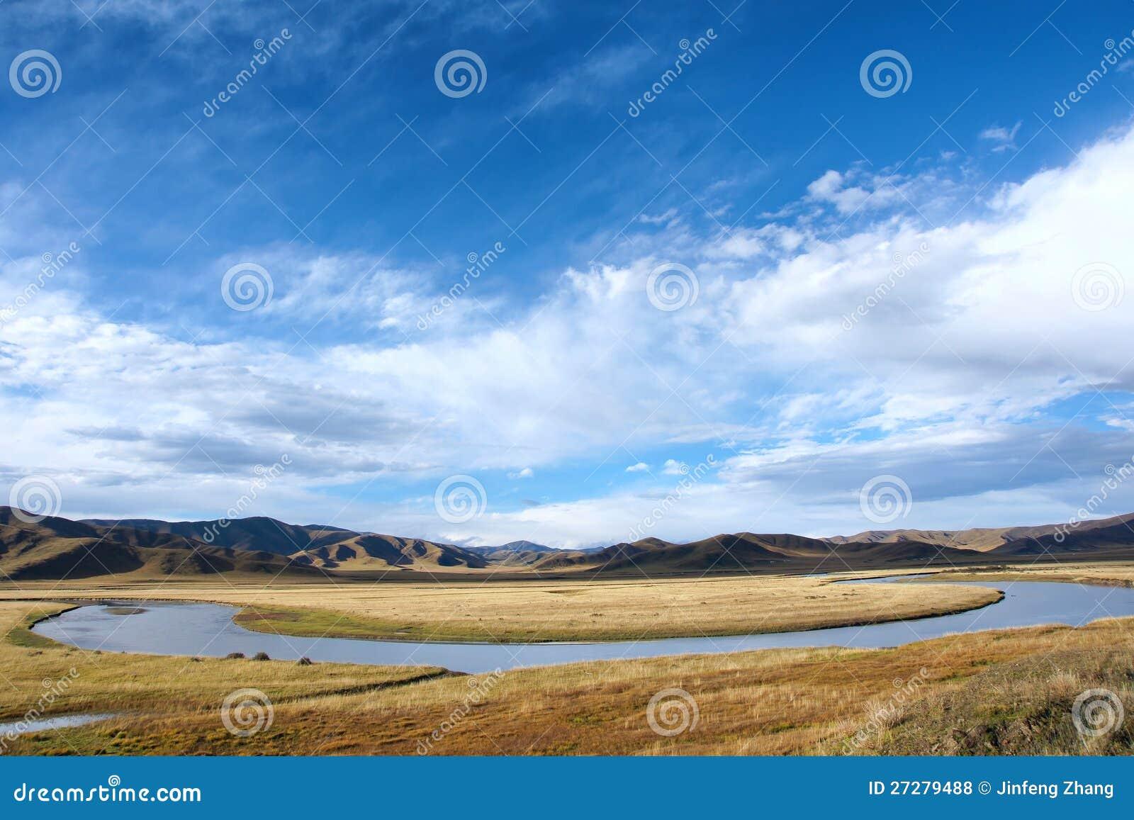 Vitt flodlandskap