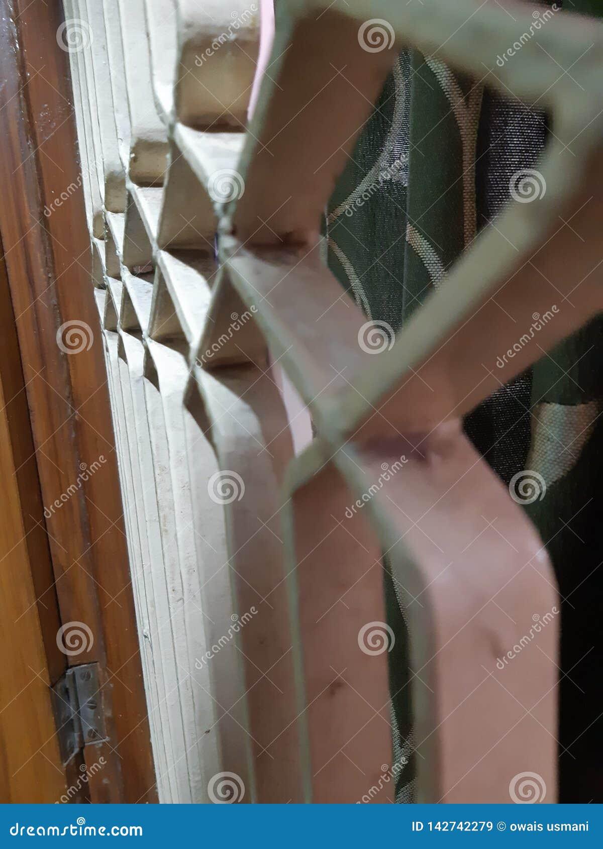 Vitt galler av fönstret i pro-funktionsläge