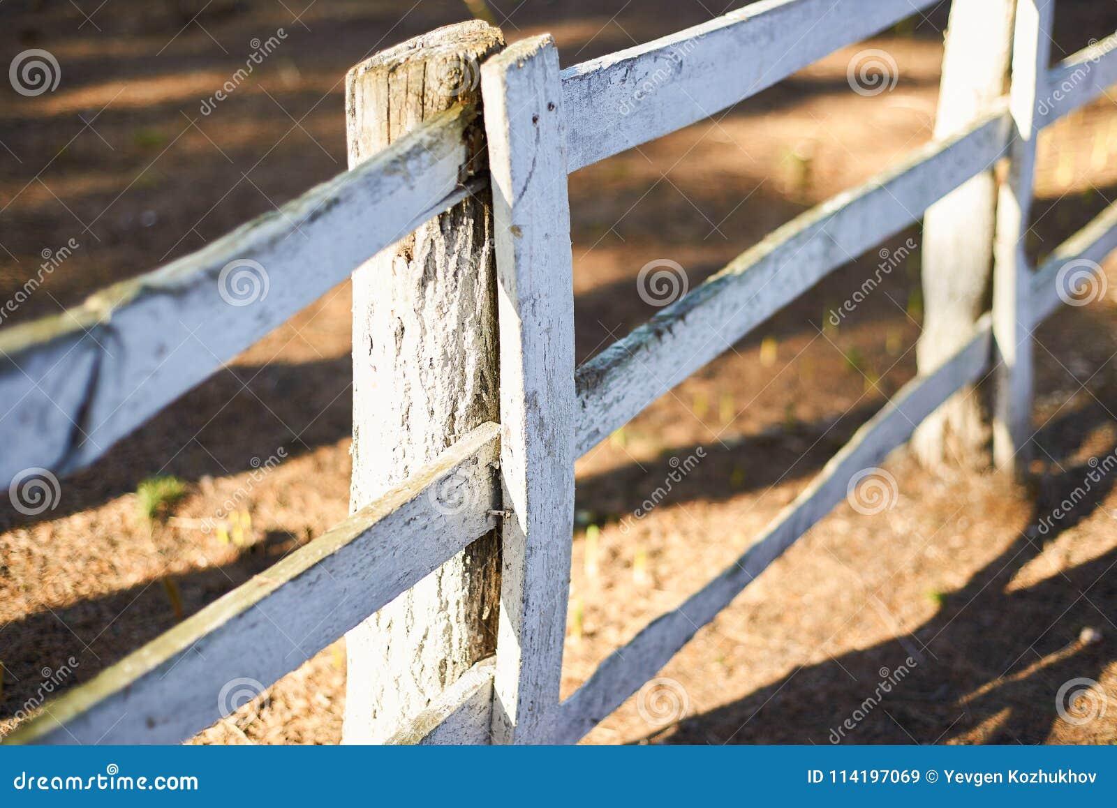 Vitt gammalt staket