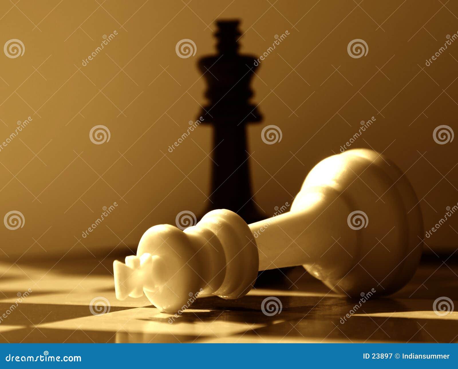 Vittorie del nero del piano d azione di scacchi