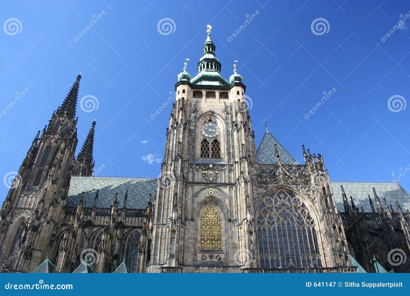 Download Vitus St республики Prague собора чехословакское Стоковое Изображение - изображение насчитывающей вероисповедание, перемещение: 641147
