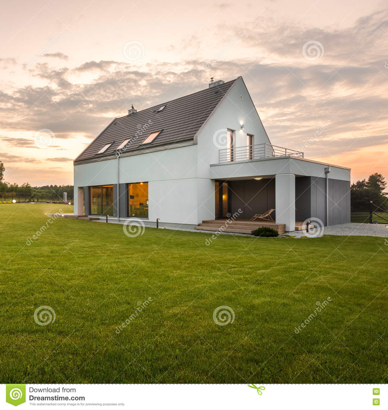 Vitvilla för modern design