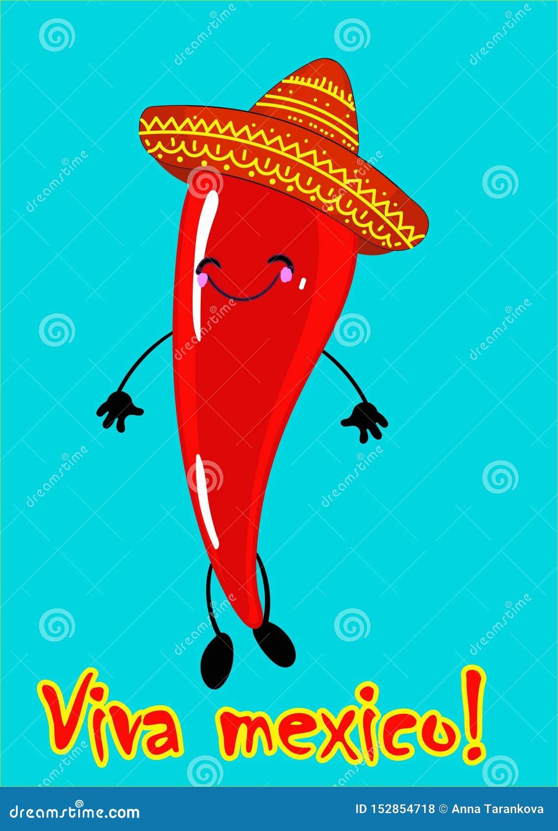 Viva Mexico, festa messicana tradizionale di frase, segnante l illustrazione con lettere di vettore Illustrazione di vettore di u