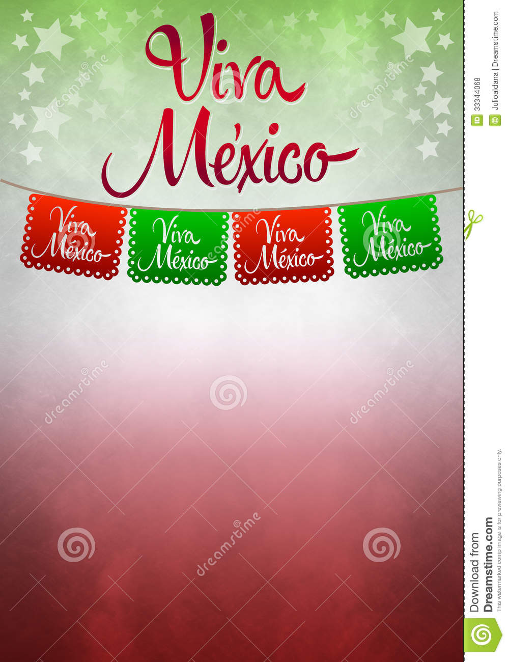 Viva mexico poster mexican paper decoration royalty free for Poster decoratif