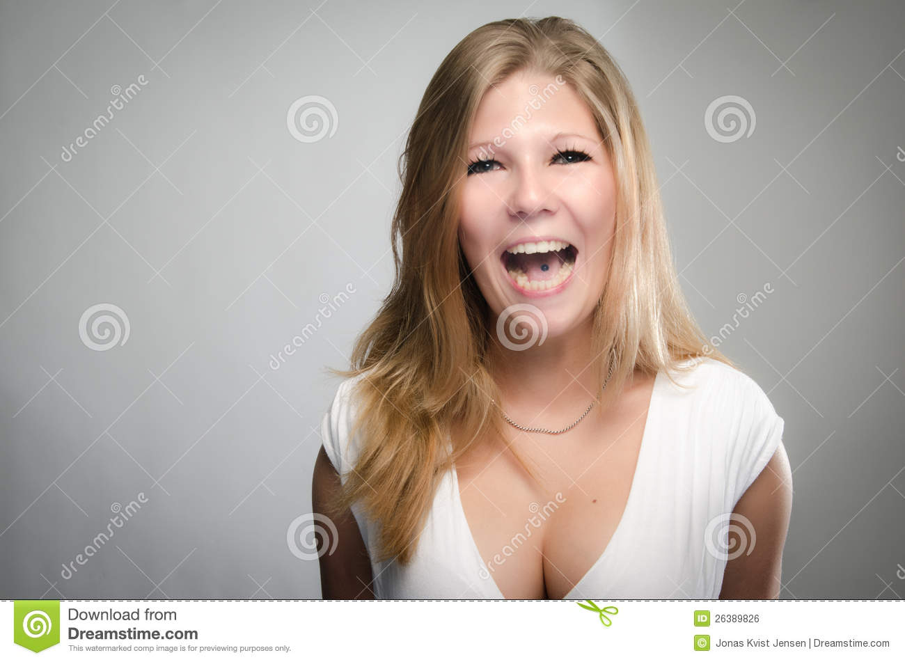 Vivacious Laughing Young Woman Royalty Free Stock Image ... Relaxing Dog Music Audio