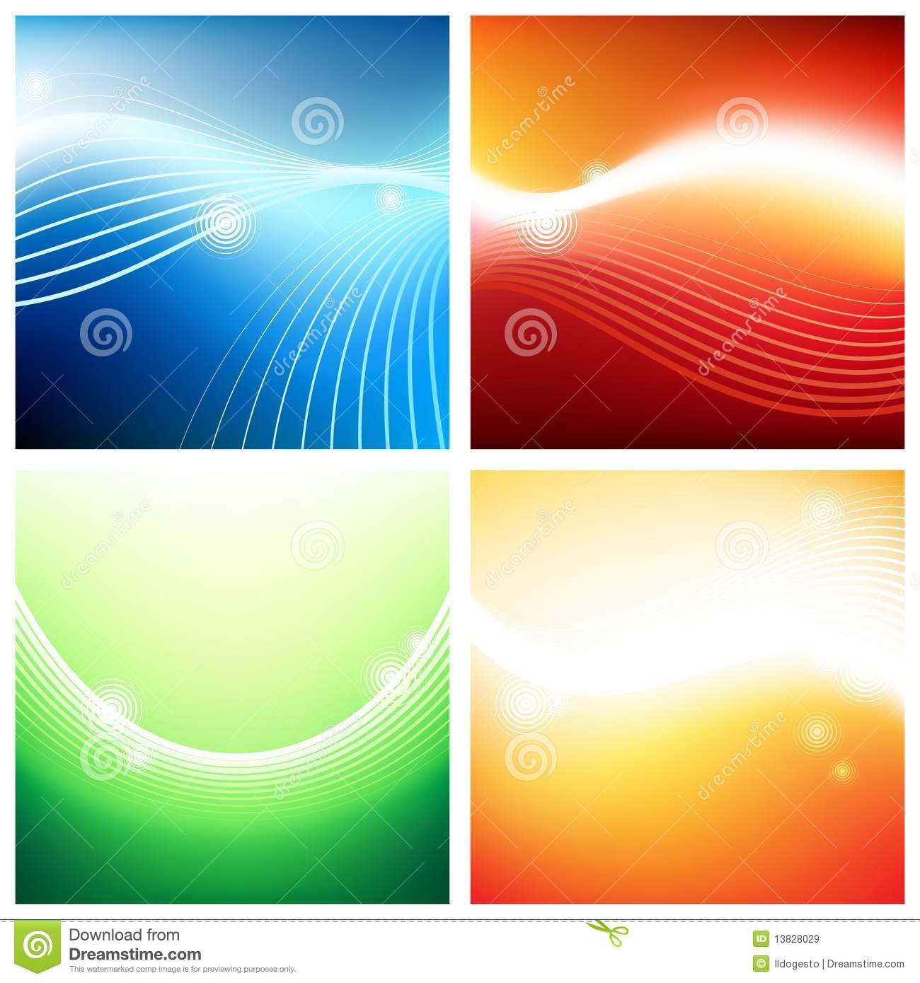 Vivid Backgrounds Streams Royalty Free Stock