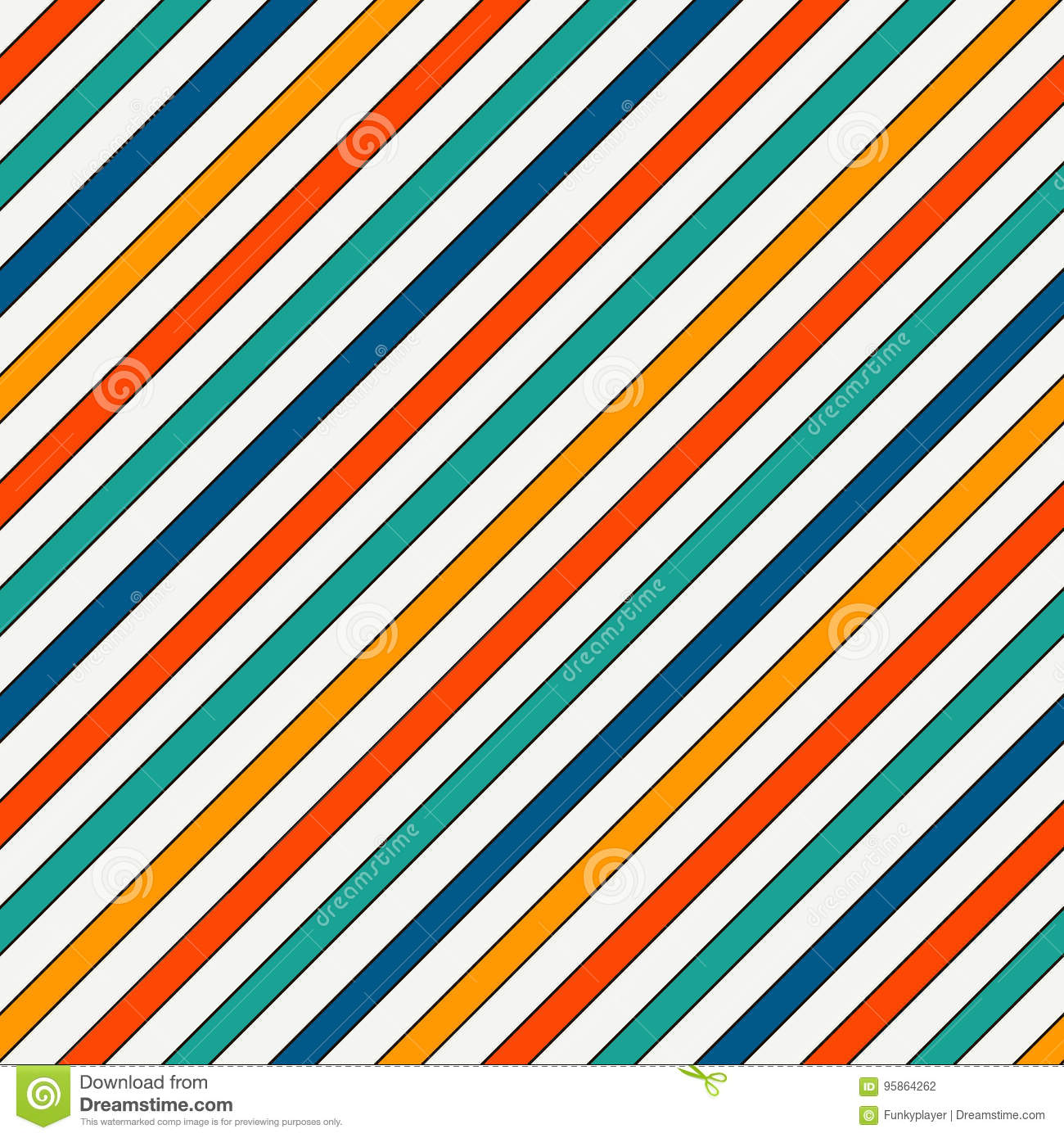 0079d8f5 Vivid colors diagonal stripes abstract background. Thin slanting line  wallpaper. Seamless pattern with classic motif.