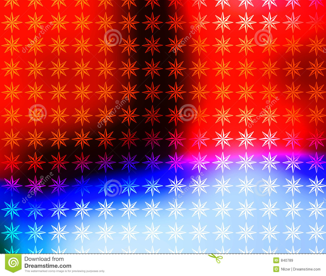 vivid red white and blue stars wallpaper stock illustration