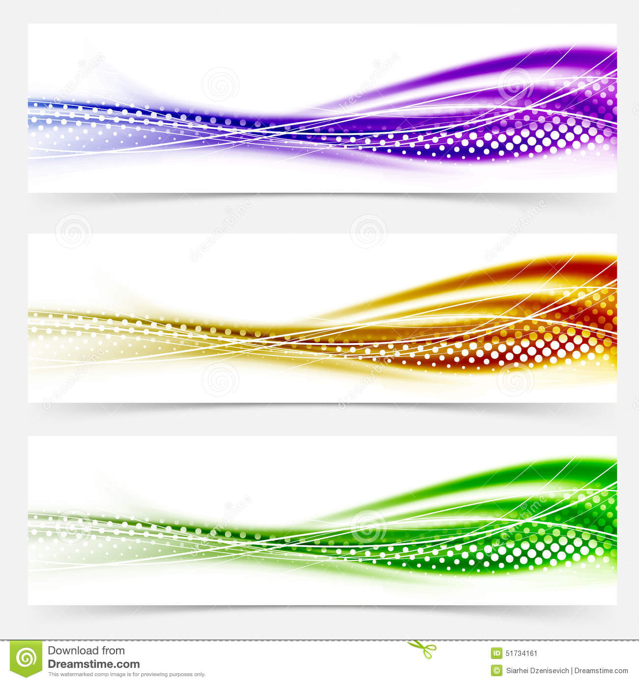 Vivid Speed Swoosh Abstract Line Banner Footer Collection Stock ...