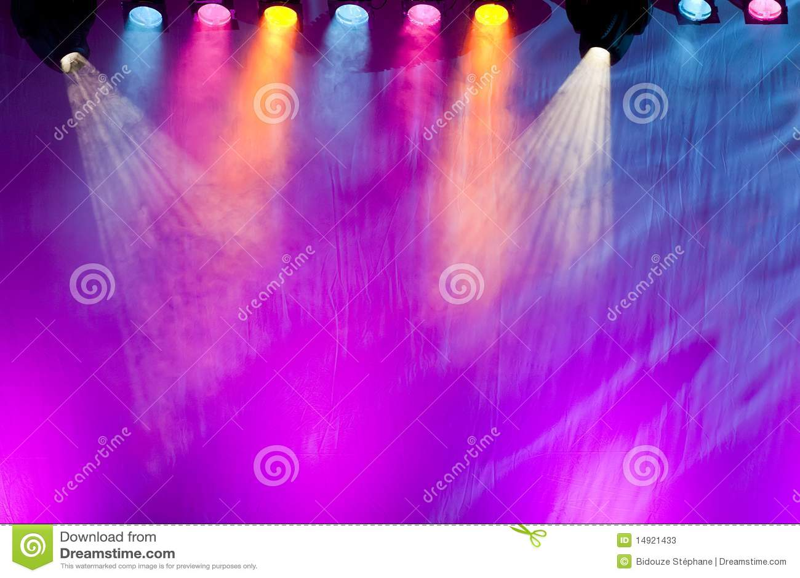 Vivid Stage Spotlights Stock s Image