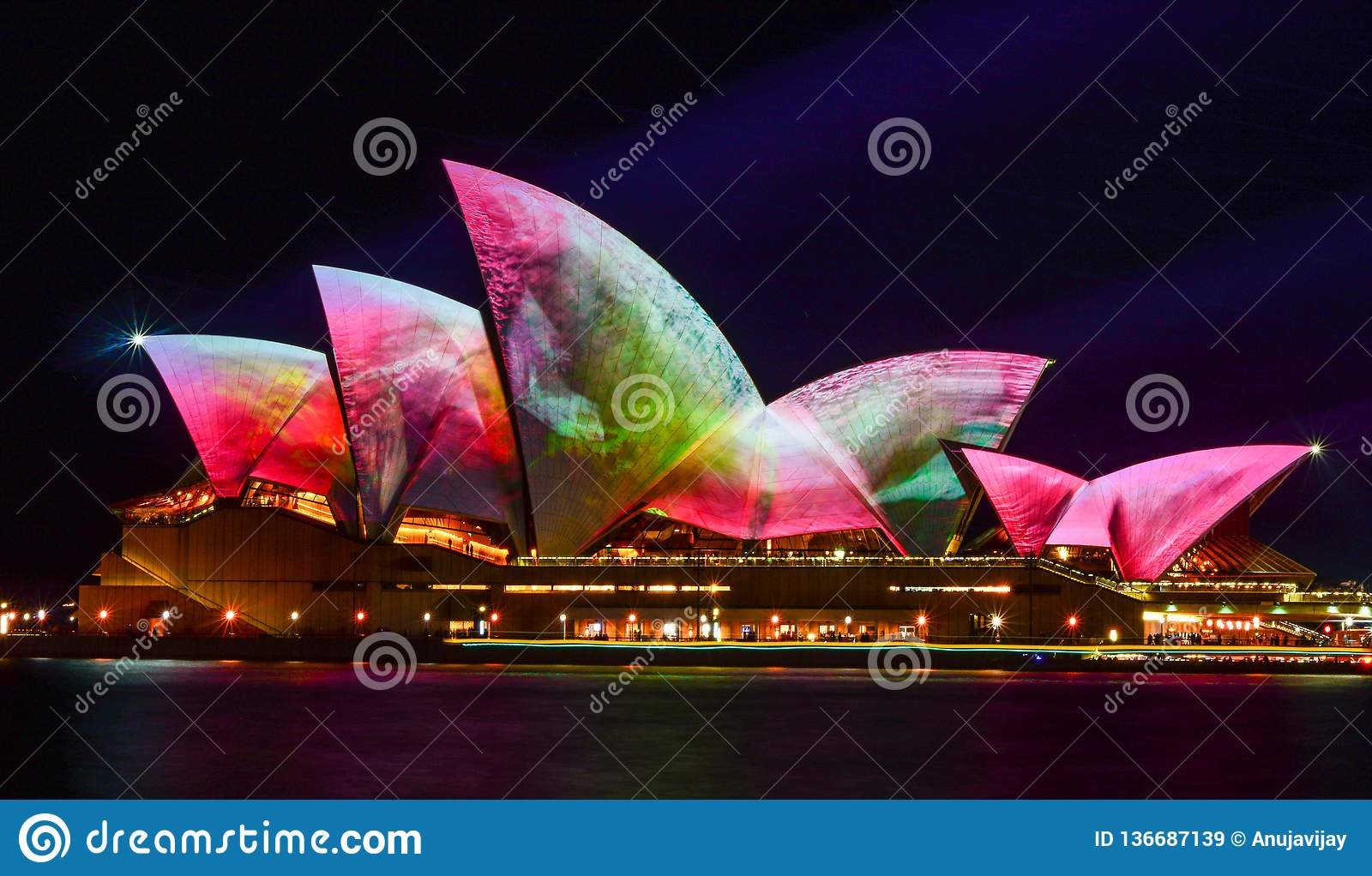 Vivid Sydney, Sydney Opera House with colourful images