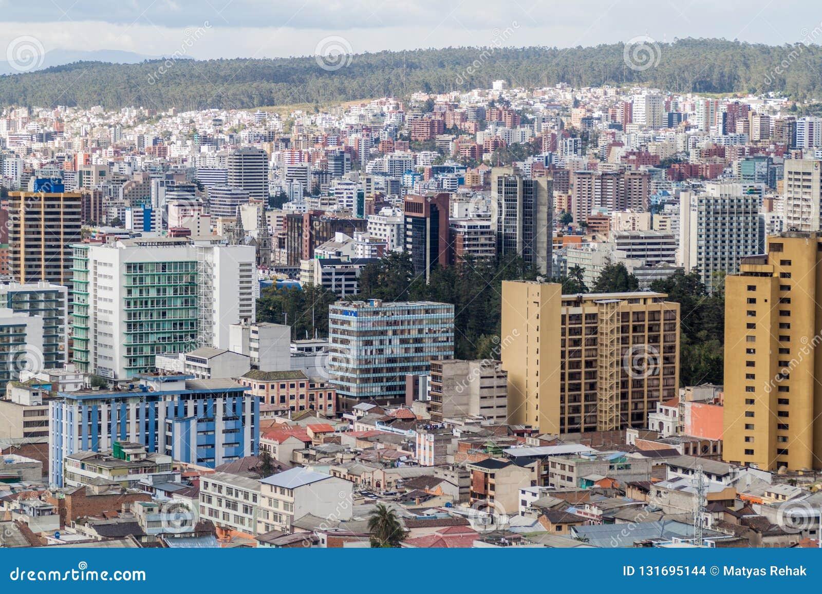Viw aéreo de Quito