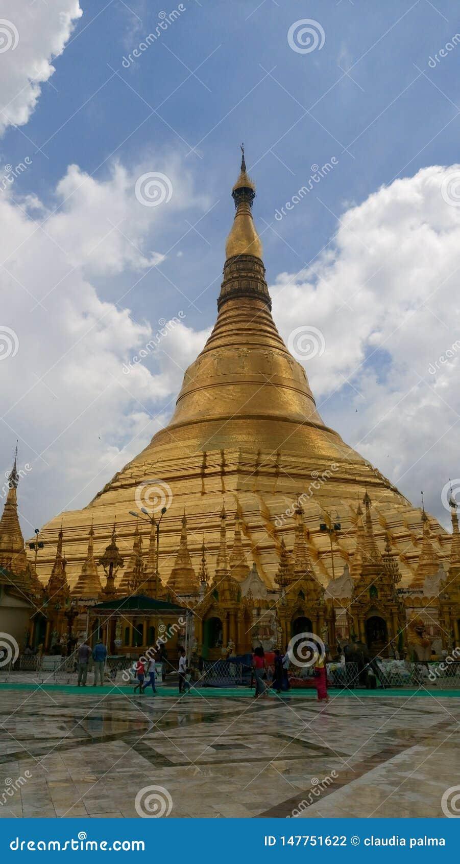 Viwes de pagoda de Shwedagon