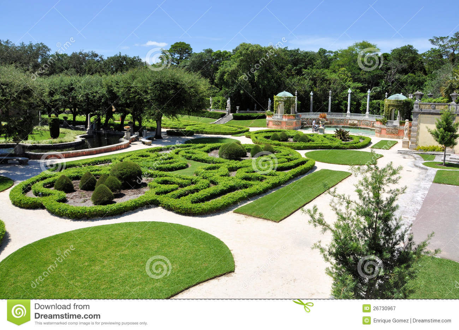 Vizcaya Gardens Royalty Free Stock Photography Image