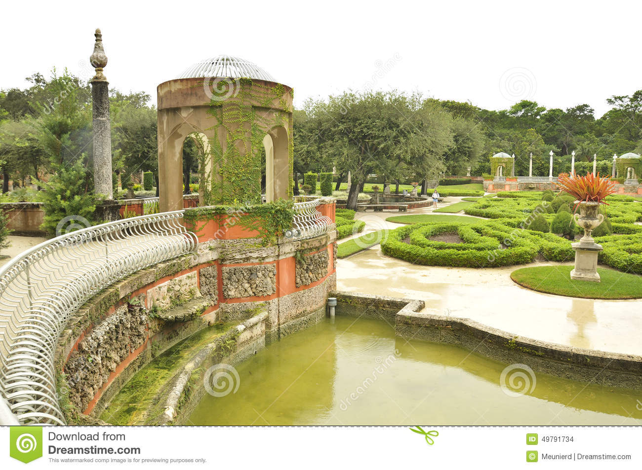 The Vizcaya Museum And Gardens Stock Photo Image 49791734