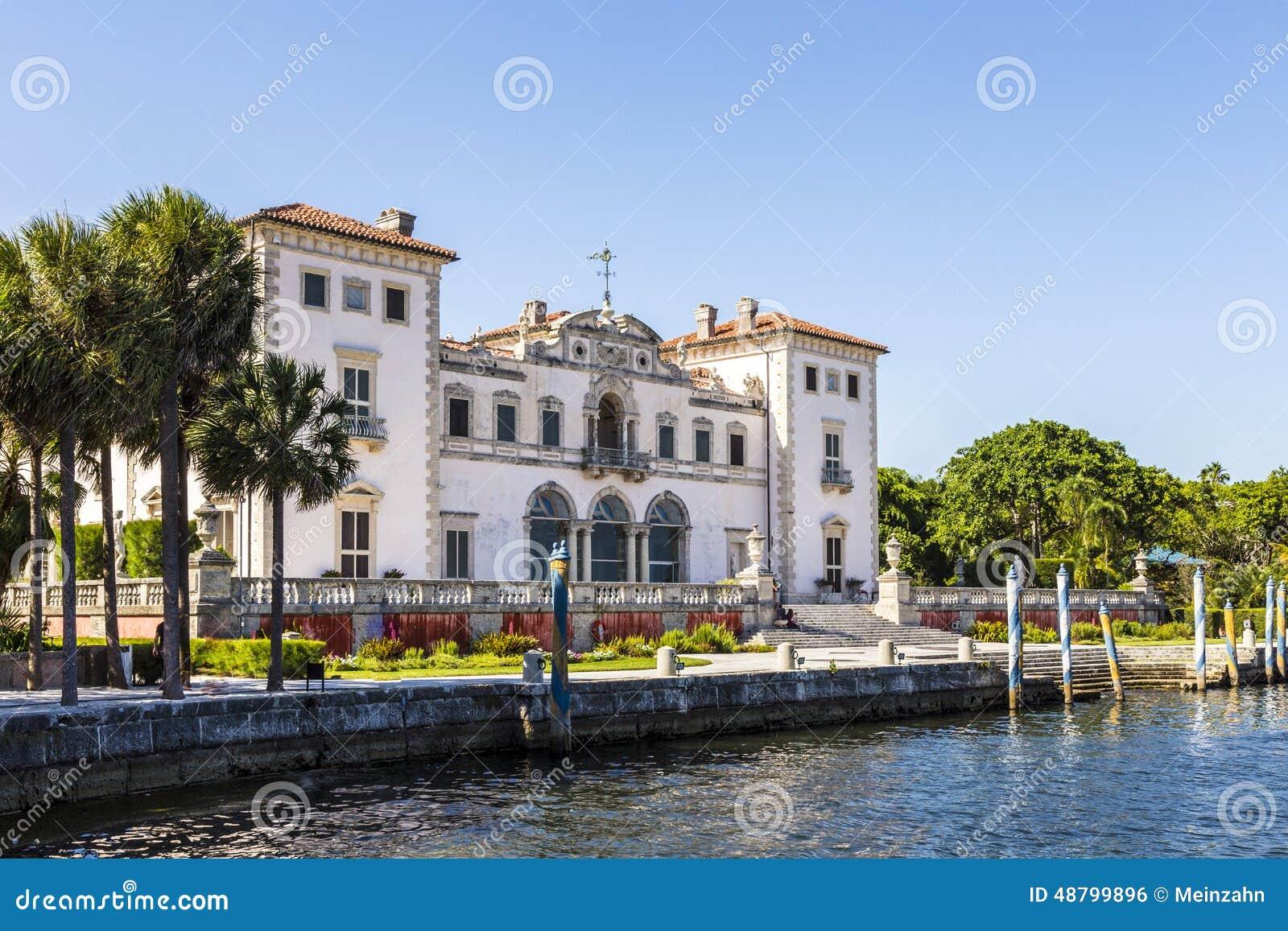 Vizcaya museum and gardens in miami florida stock photo image