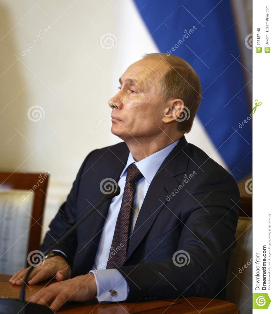 Vladimir Putin President Of Russia Editorial Image Image Of Forces Federation 108157140