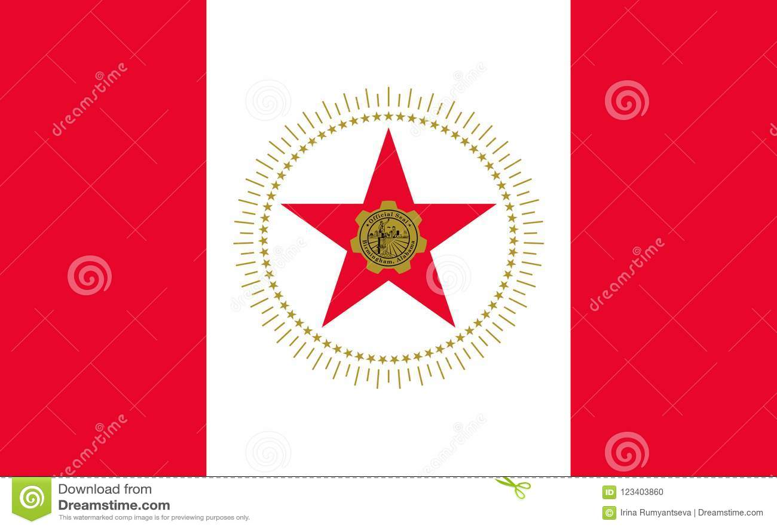 Vlag van Birmingham, Alabama, de V.S.