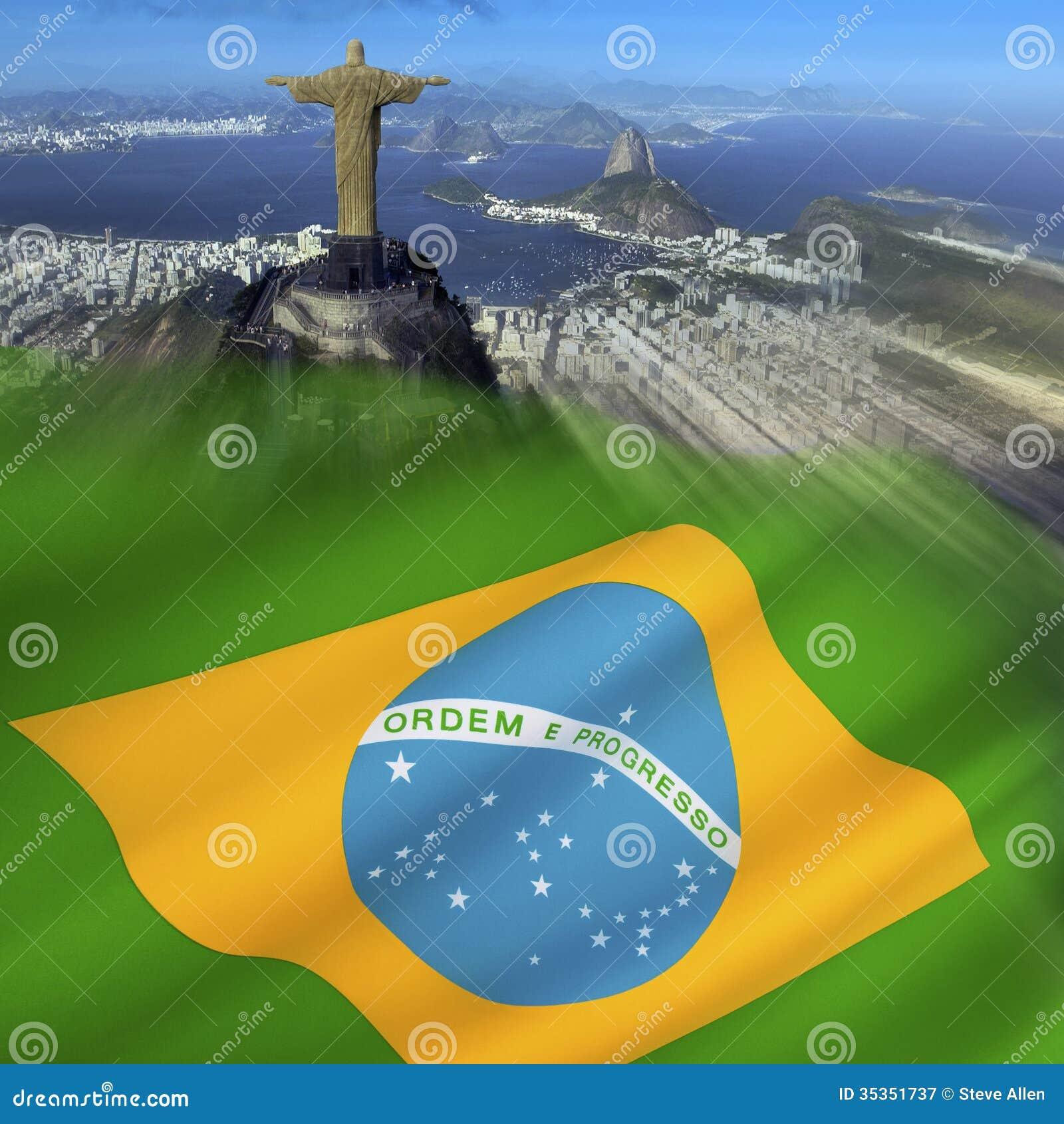 Brazil Rio De Janeiro Flag