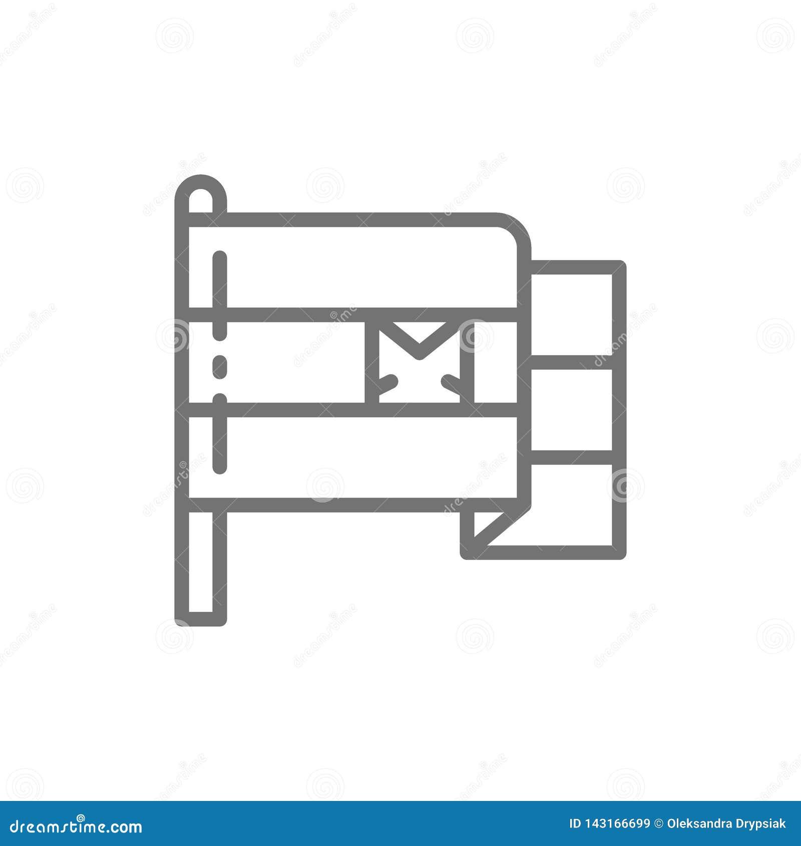 Vlag van de lijnpictogram van Egypte