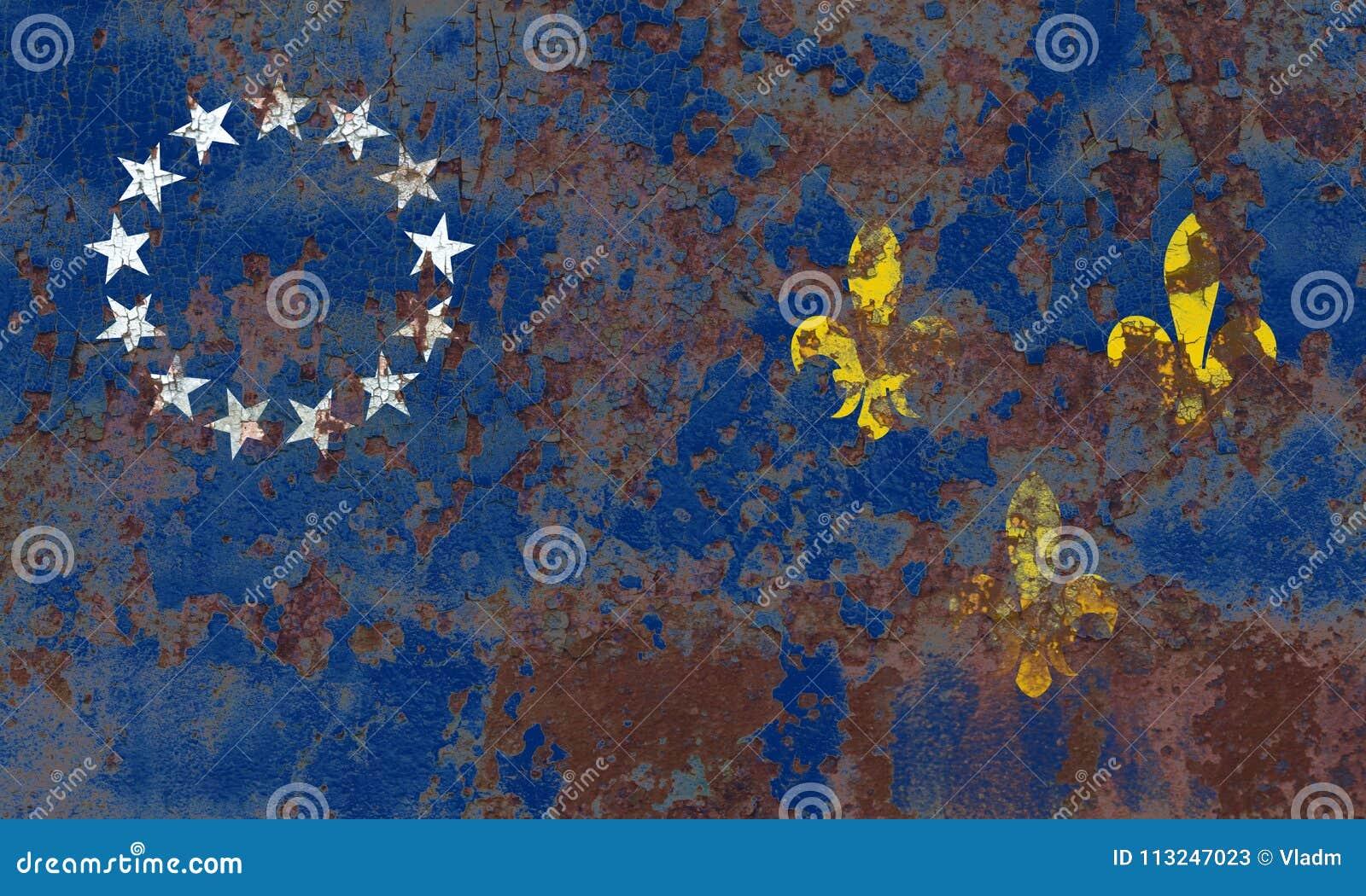 Vlag van de de stadsrook van Louisville de oude, de Staat van Kentucky, Verenigde Staten van