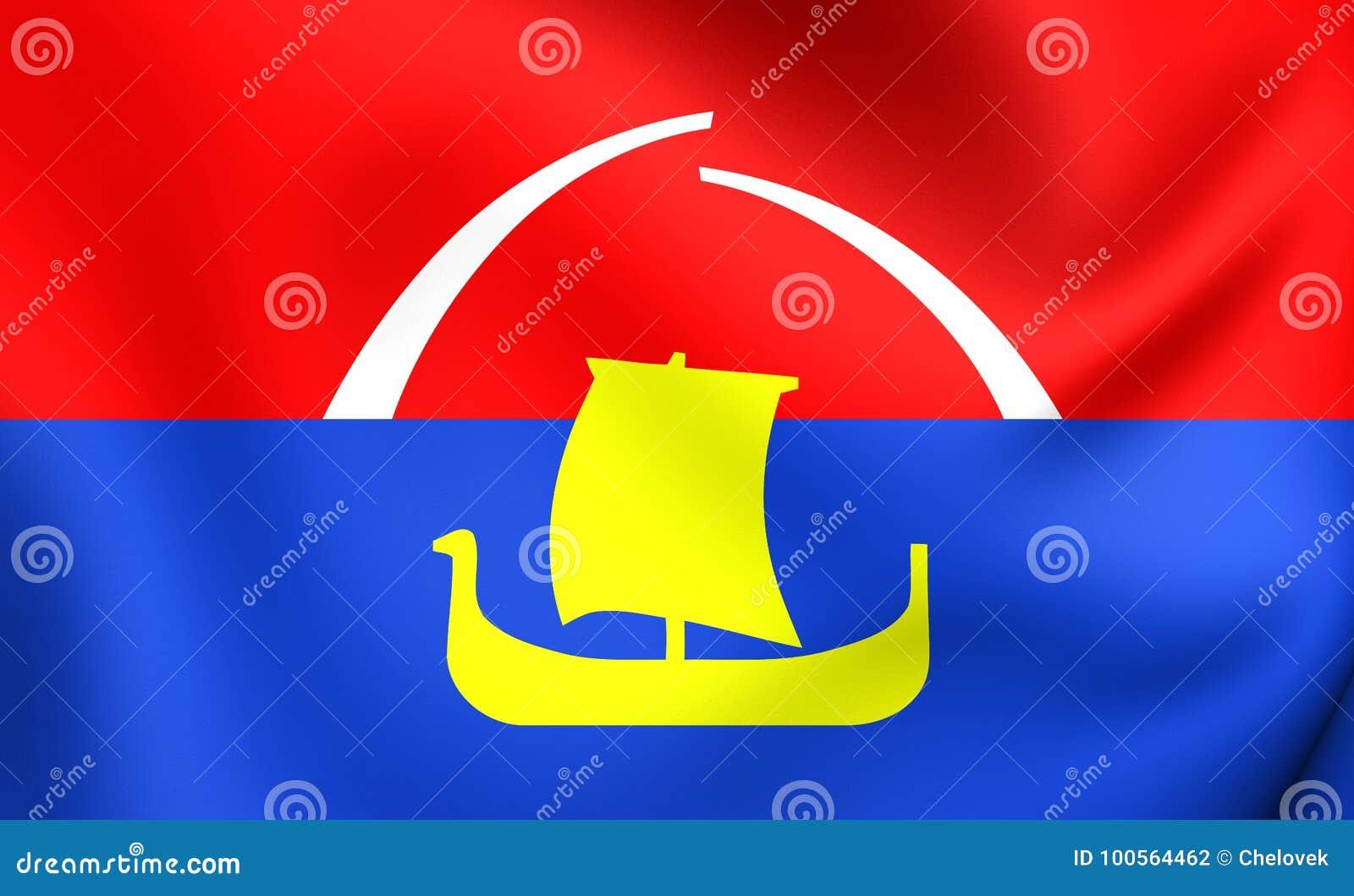 Vlag van het Vsevolozhsky-District, Rusland