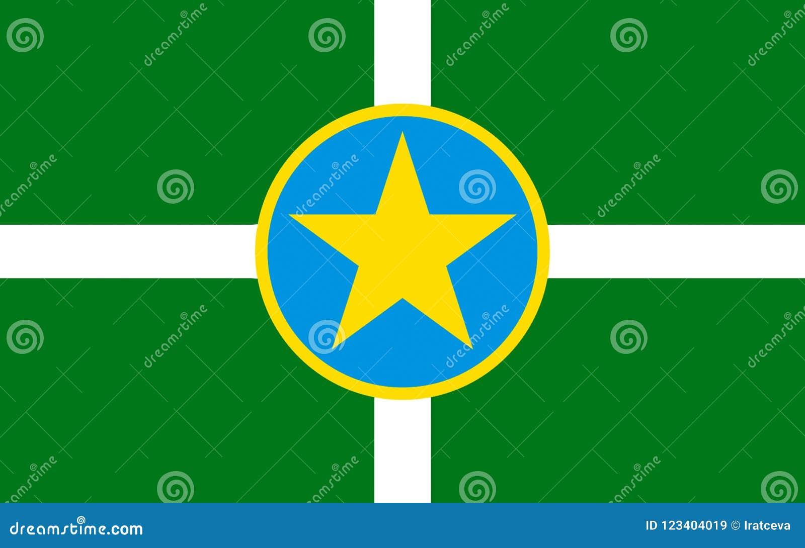 Vlag van Jackson in de Mississippi, de V.S.